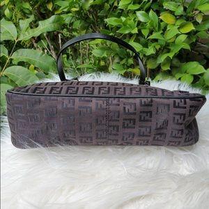 Fendi double strap Zucchino Print handbag